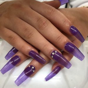 lovely-nails-bar-kingston-trendy-coffin-shaped-acrylic-nail-extensions-with-diamond-design-5